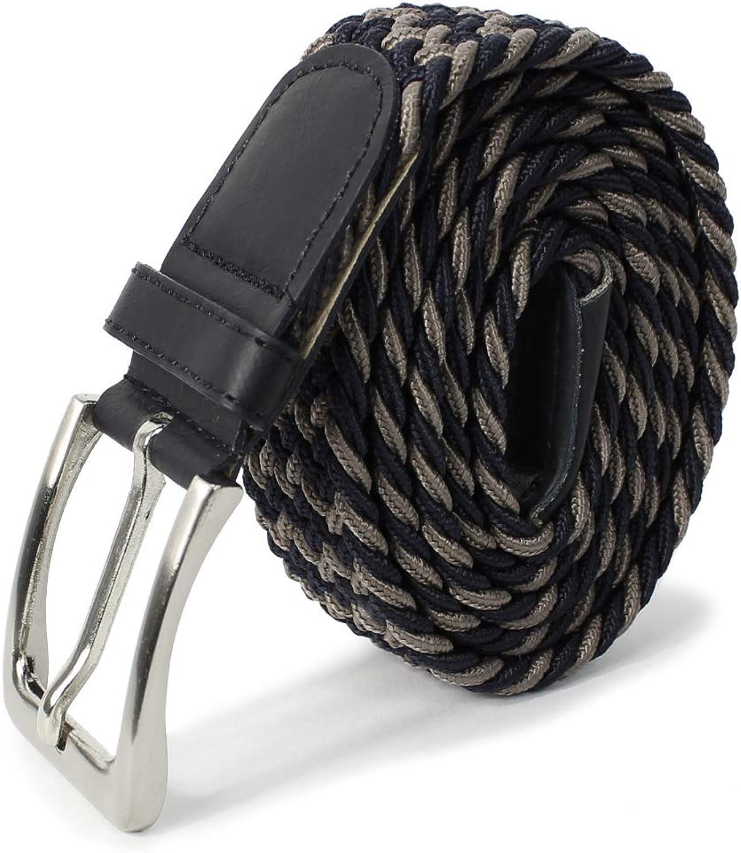 Glamexx24 Cinturón elástico de tela unisex Cinturón elástico trenzado Cinturón elástico para mujeres y hombres