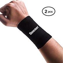 Senston Sportarmband voor heren, zweetband, fitness, zweetbanden, pols, sweatbands, tennis, polsbanden voor voetbal, baske...