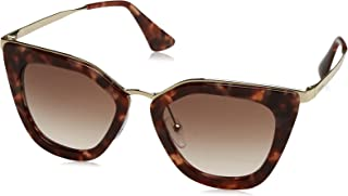 Prada PR53SS UE00A6 Spotted Brown Pink PR53SS Cats Eyes Sunglasses Lens Categor