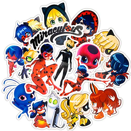 Ladybug Girl Graffiti Sticker Amazon Explosion Maleta Guitarra Etiqueta de Dibujos Animados 100PSC