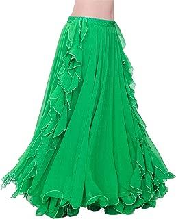 Dance Skirts Double High Slits Belly Dance Costume Skirt for Women Skirt Belly Dance