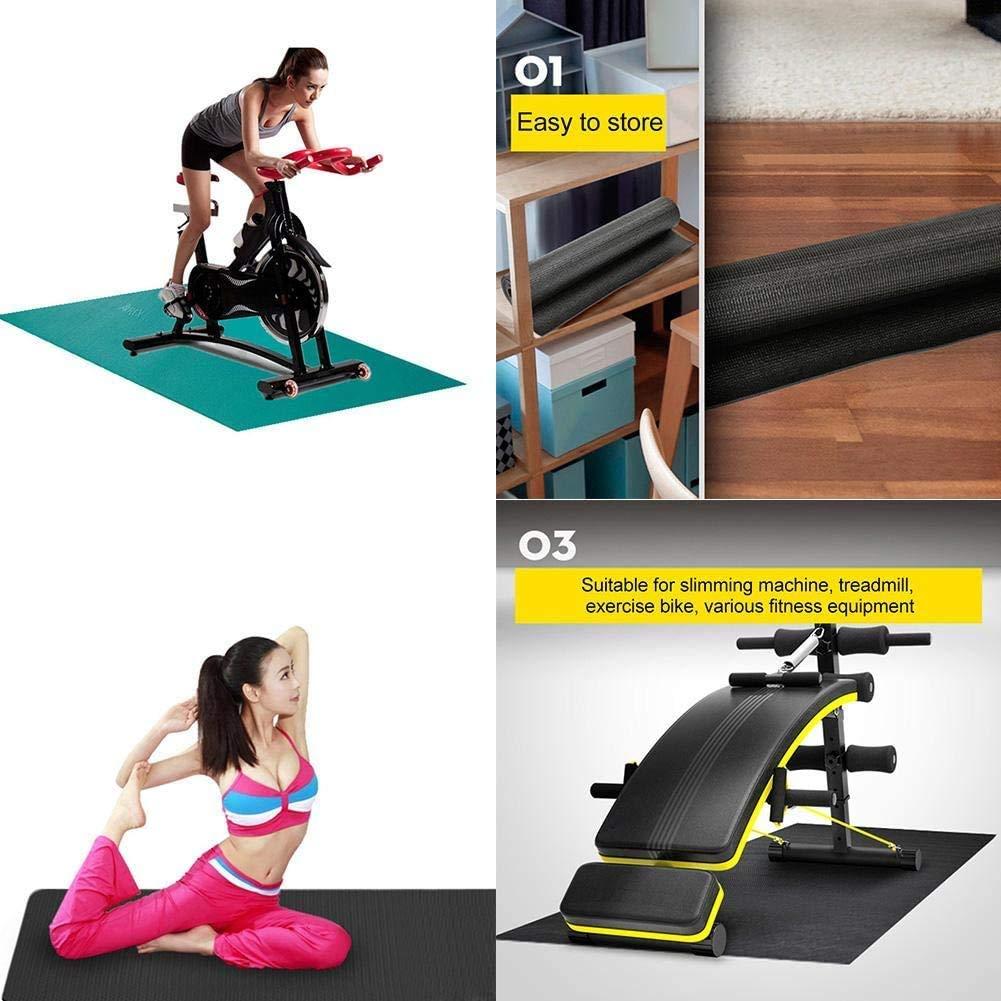Colchoneta de ejercicio Equipo, la absorción acústica y absorción de impactos caminadora Mat for suelos y protección de alfombras, Fit cinta de correr, la bicicleta estática, varios equipos de ejercic: Amazon.es: Deportes