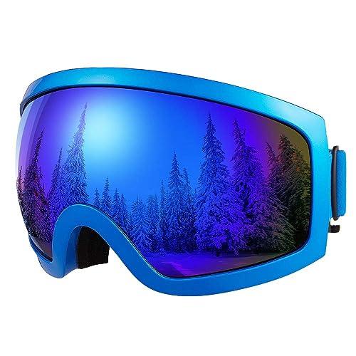 Bfull OTG Lunette de Ski, Lunettes d'anti-buée Coupe-Vent Les Hommes,Les Femmes Les Jeunes, Protection UV 400 lentille d'anti-éblouissement.