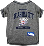 Pets First NBA Licensed Hoodies & T-Shirt for Dogs & Cats, Oklahoma City Thunder, Medium