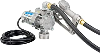 GPI - EZ-8 Fuel Transfer Pump, Manual Shut-Off Nozzle, 8 GPM Fuel Pump, 10` Hose, Power Cord, Adjustable Suction Pipe (137100-01)