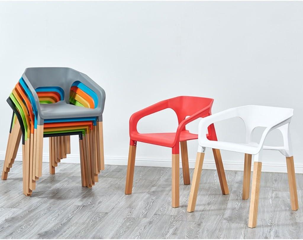 Dossier accoudoir minimaliste moderne européen en plastique dinant la chaise (Couleur : B) C