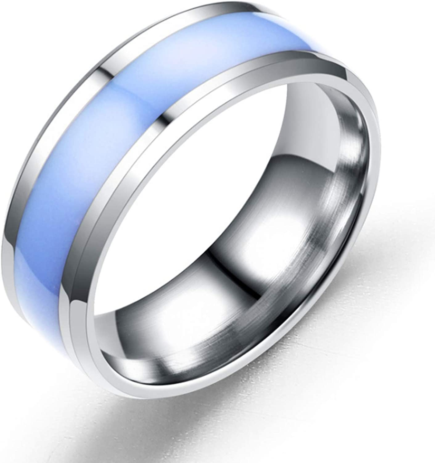 Castal Jewelry 8MM Silver New popularity Stainless High Great interest Steel Ring Bev Polished