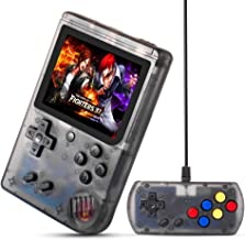 MEEPHONG Handheld Game Console, TV Output Retro FC Plus Extra Joystick NES Classic Game Console Built-in 168 Handheld Video Games (Black Transparent)