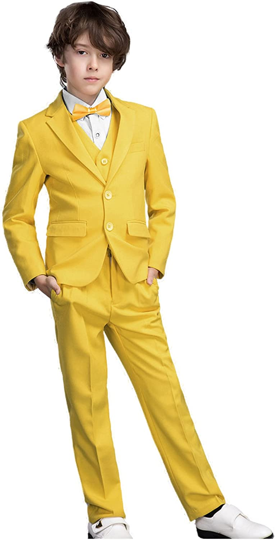 Yanlu 5 Piece Boy's 期間限定で特別価格 Kid Jacket+Vest+Pants+Shirt+Tie お得なキャンペーンを実施中 Formal Suits