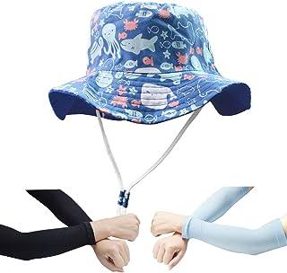 FtingSun Kids Baby Legionnaire Stretch Summer Hat Girls Boys Beach Hat Sun Hat UV Sun Protection Flap Cap For Travel Outdoor