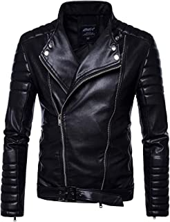 Famisamy 👚👚 Angel Fire Premium Grade Cowhide Leather Motorcycle Jacket for Men