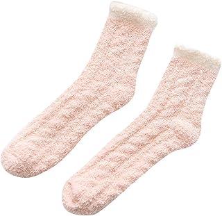 FAMILIZO Calcetines, 1 Par De Mujeres Wave Dot Calcetines De Algodón De Múltiples Colores Mujeres Lindas Calcetines De Invierno Tobilleros Antideslizantes