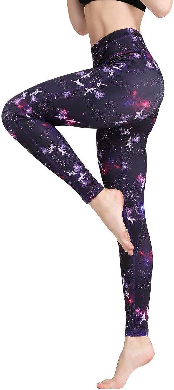 Yoga Pants for Women,Women's High Waist Yoga Pants Printed Leggings Stretch Yoga Leggings Active Pants for Fitness Gym Sports