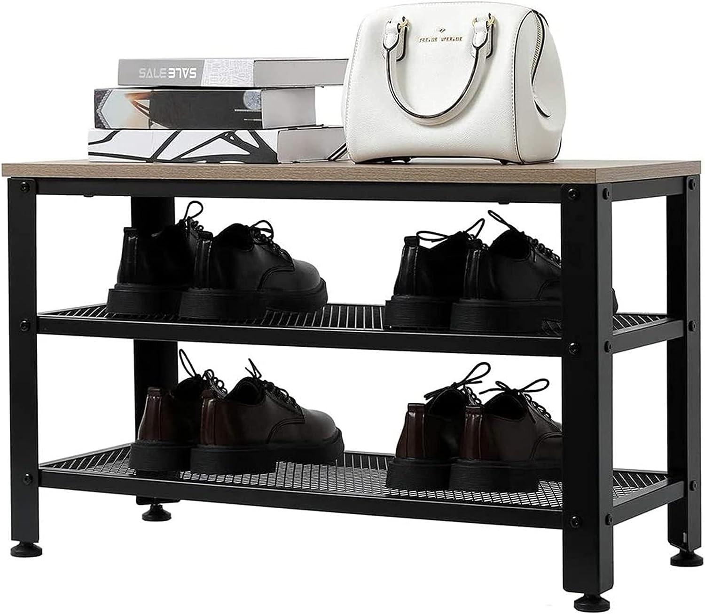 DOZOBEEDI mart Shoe Bench 2-Tier Industrial S Storage Rack with OFFicial store