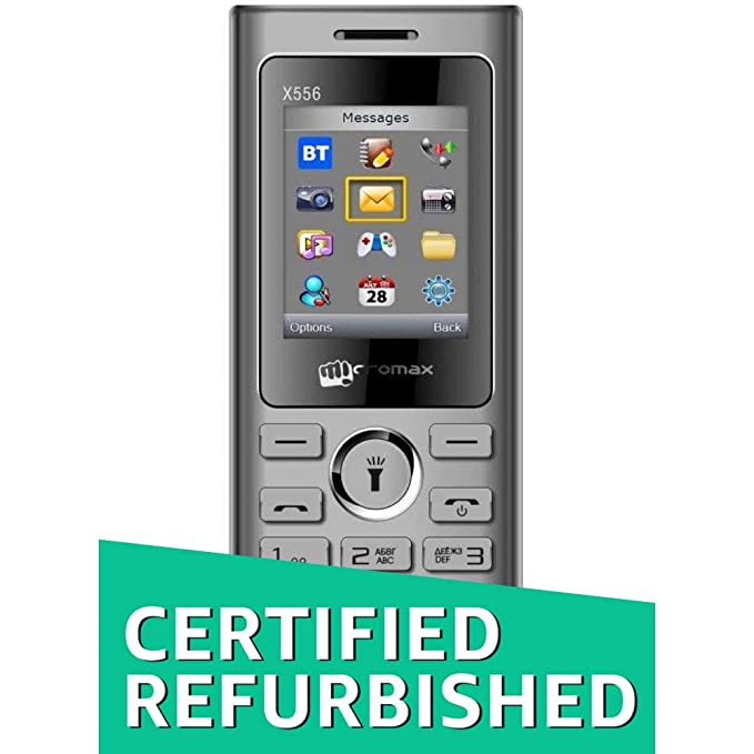 Renewed  Micromax X556  Wireless FM,Voice Call Recording,Camera   Dual Sim   GREY  Basic Mobiles