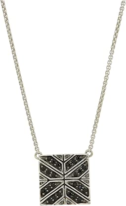 Modern Chain Necklace with Black Sapphire