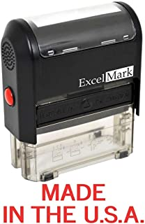 Made in The USA - ExcelMark Self-Inking Rubber Stamp - A1539 Red Ink