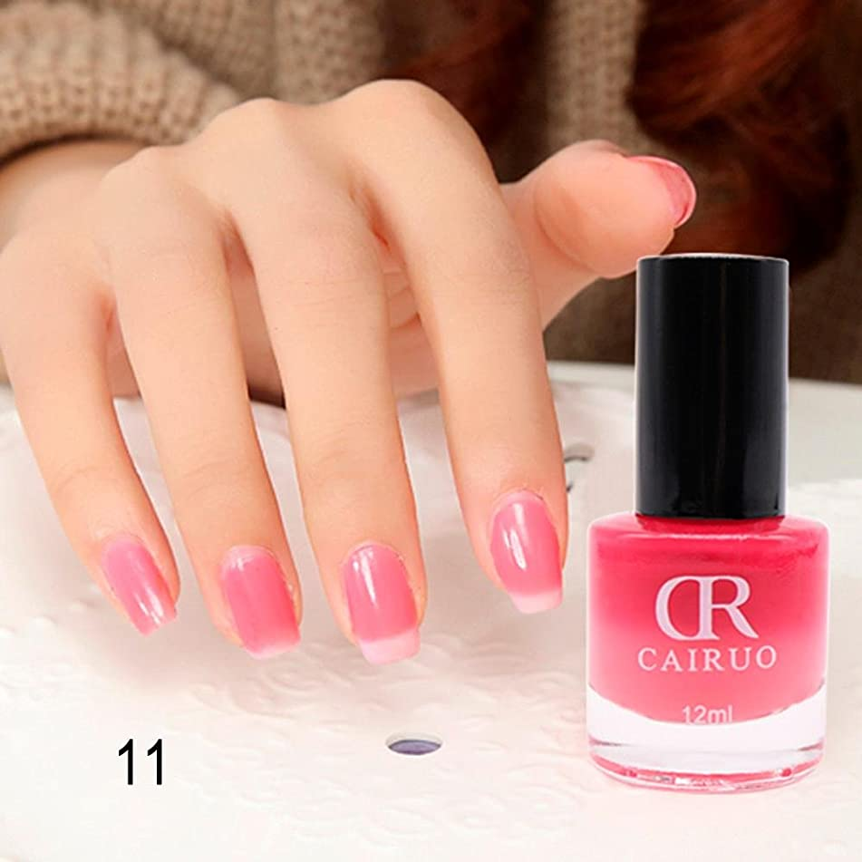 Gel Nail Polish Color Changing,Chartsea 12ML Temperature Change Nail Polish Color Temperature Control Health Nontoxic Nail Oil (Q) (K)