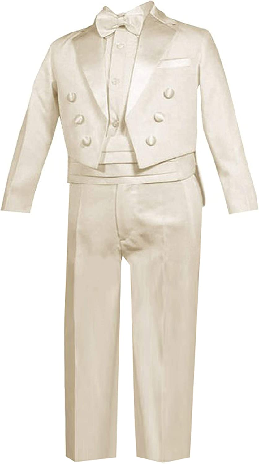 Gino Giovanni Ring Now free shipping Bearer Outstanding Boys Ivory Tuxedo Baby Tail Set from t