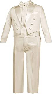 HBDesign Boys3 Piece 2 Button Peak Lapel Slim Trim Fit Boy Suit for Wedding