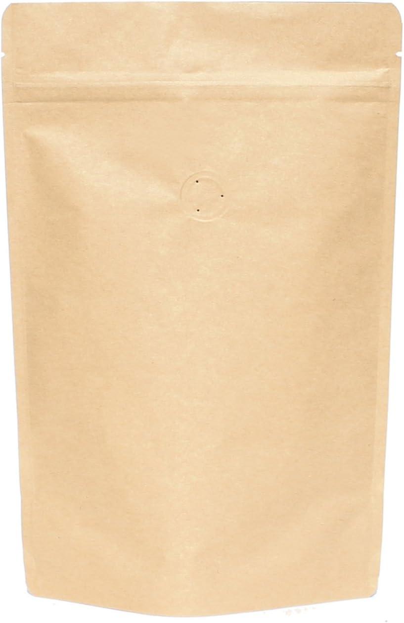 10 kraft paper zipper bag with window mini size about coffee bean 20 g