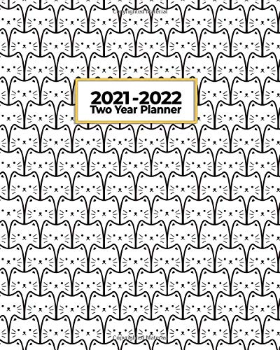 2021-2022 Two Year Planner: White Cat Army | Purrbaby |...