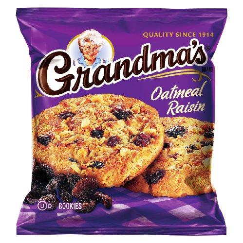 Grandma's Oatmeal Raisin Cookies, 2.5 Ounce (Pack of 60)