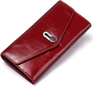 LDUNDUN-BAG, 2019 Casual Flip Fashion Leather Clutch Bag Multi-Function Wallet Women's Wallet (Color : Red, Size : S)