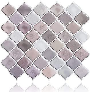 FAM STICKTILES Arabesque Peel and Stick Tile for Kitchen Backsplash, Decorative Backsplash Peel and Stick, Stick on Tiles for Backsplash, Smart Tiles Peel and Stick Backsplashes 11