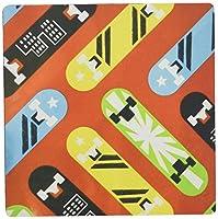 3drose LLC 8x 8x 0.25インチのマウスパッド、イエロー/グリーン/ブラックスケートボードレッド( MP _ 38245_ 1)