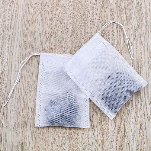 NNMNBV 100 stuks/Lot Heal Seal filterpapier voor losse kruidenthee, lege geurende theezakjes met koordtheezakje