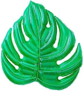 L.J.JZDY Airbeds flyter på vattnet gröna löv swimmingpool vuxen flytande gigantiska flytande objekt, rolig uppblåsbar flyt...