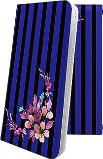 かんたんスマホ 705KC ケース 手帳型 花柄 花 フラワー ストライプ ボーダー マルチストライプ ケーシー 和柄 和風 日本 japan 和 705 kc おしゃれ 10683-wovsdk-10001008-705 kc