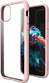 ZUSLAB Tough Fusion Case Compatible with Apple iPhone 11 Shock Absorption Rubber Bumper Protective Case Transparent Hard Back Clear Cover - Pink