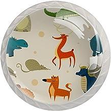 Lade handgrepen trekken ronde kristallen glazen kast knoppen keuken kast handvat,dieren
