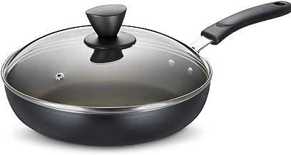 YUMEIGE Elektrische bakvorm 26 cm koekenpan, non-stick koekenpan, huishoudelijke steak pan met minder olieachtige rook, al...