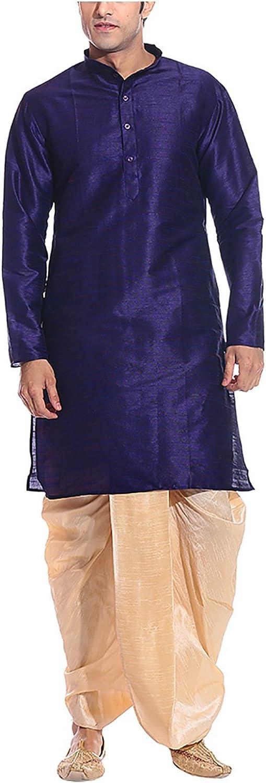 Royal Men's Threadsart Silk Dhoti
