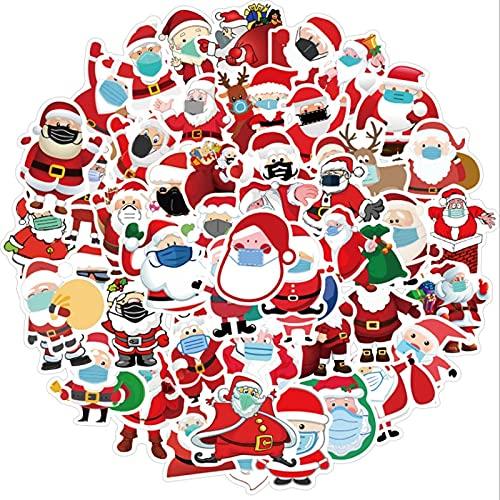 WYDML Santa Claus usando máscaras graffiti impermeable skate maleta de viaje teléfono portátil equipaje pegatinas lindo niños niña 50 piezas