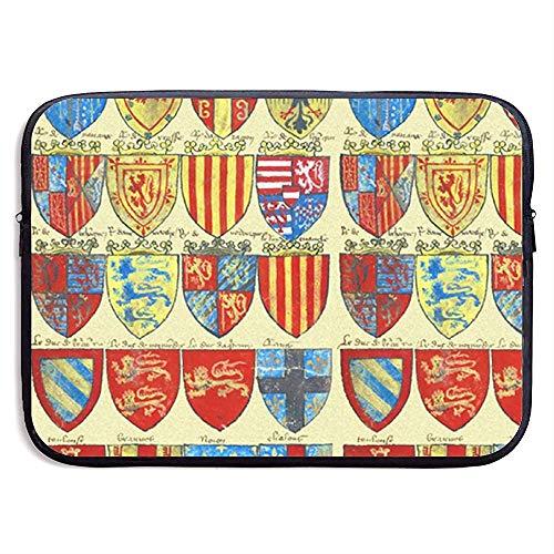Ridders van de Ronde Tafel ~ Heldere 15 Inch Laptop Sleeve Tas Draagbare Rits Laptop Tas Tablet Tas
