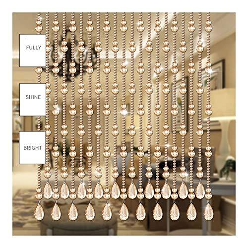 PENGFEI Cortinas con Cuentas Puerta Ventana Decoración Casera del Patio Herrajes Colgantes De Cristal Divisor De Pantalla, Dormitorio Sala De Estar, Personalizable