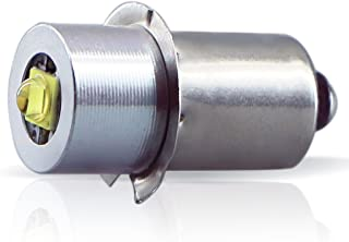 LudoPam High Power LED Upgrade Bulb 3W DC 4-12V Replacement Part LED Conversion Kit Bulbs 3-6 Cell C&D for MagLite Flashlights Torch