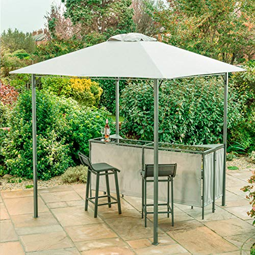 Jawoll Pavillon mit Theke und 2 Barhockern 2,4 x 2,4 m Sonnenschutz Partyzelt Gartenzelt Gartenbar