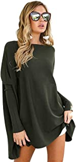 Ausexy Women Autumn Winter Elegant Simple Loose Blouse Long Sleeve Plus Size Long Tops Pullovers Female Sweater Clothing
