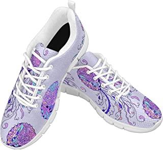 Zenzzle Womens Running Shoes Watercolor Jellyfish Design Pattern Casual Lightweight Athletic Sneakers Size 6-12