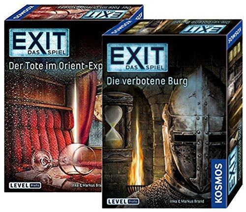 Exit Kosmos 694029 - Juego de mesa (2 juegos de mesa de la Muerte en Orient-Express y Kosmos 692872, castillo prohibido y 2 juegos de escamas para casa y profesionales de nivel profesional)
