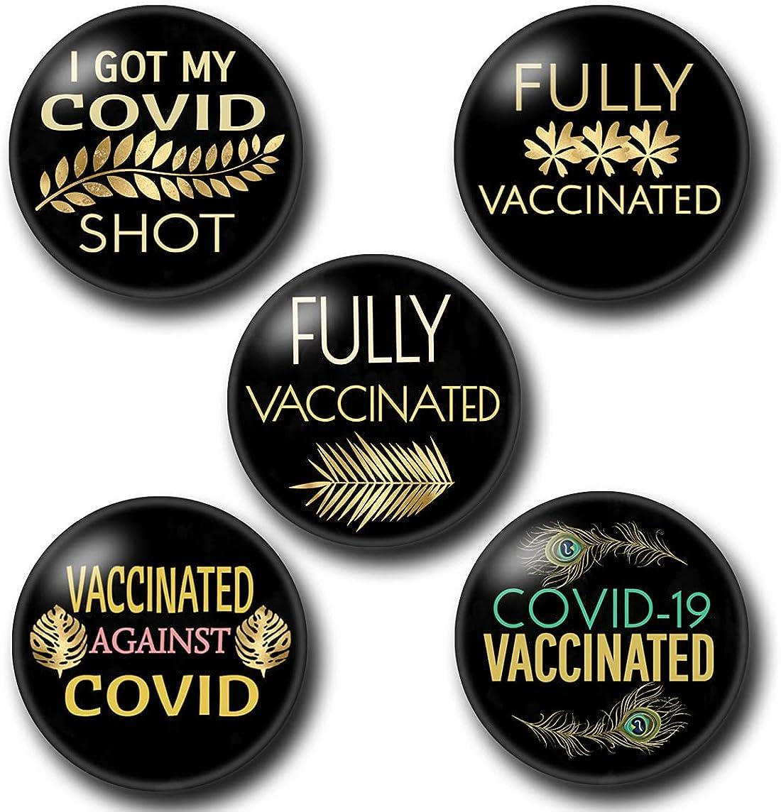 COVID Fresno Mall Vaccinated Pins 5 buttons Fashion Covid-19 Bu pinback