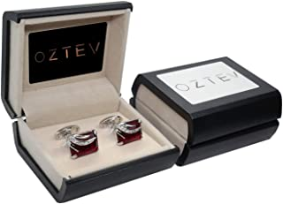 Oztev Stainless Men's Jewelry Cufflinks For Formal Attire With Jewelry Box