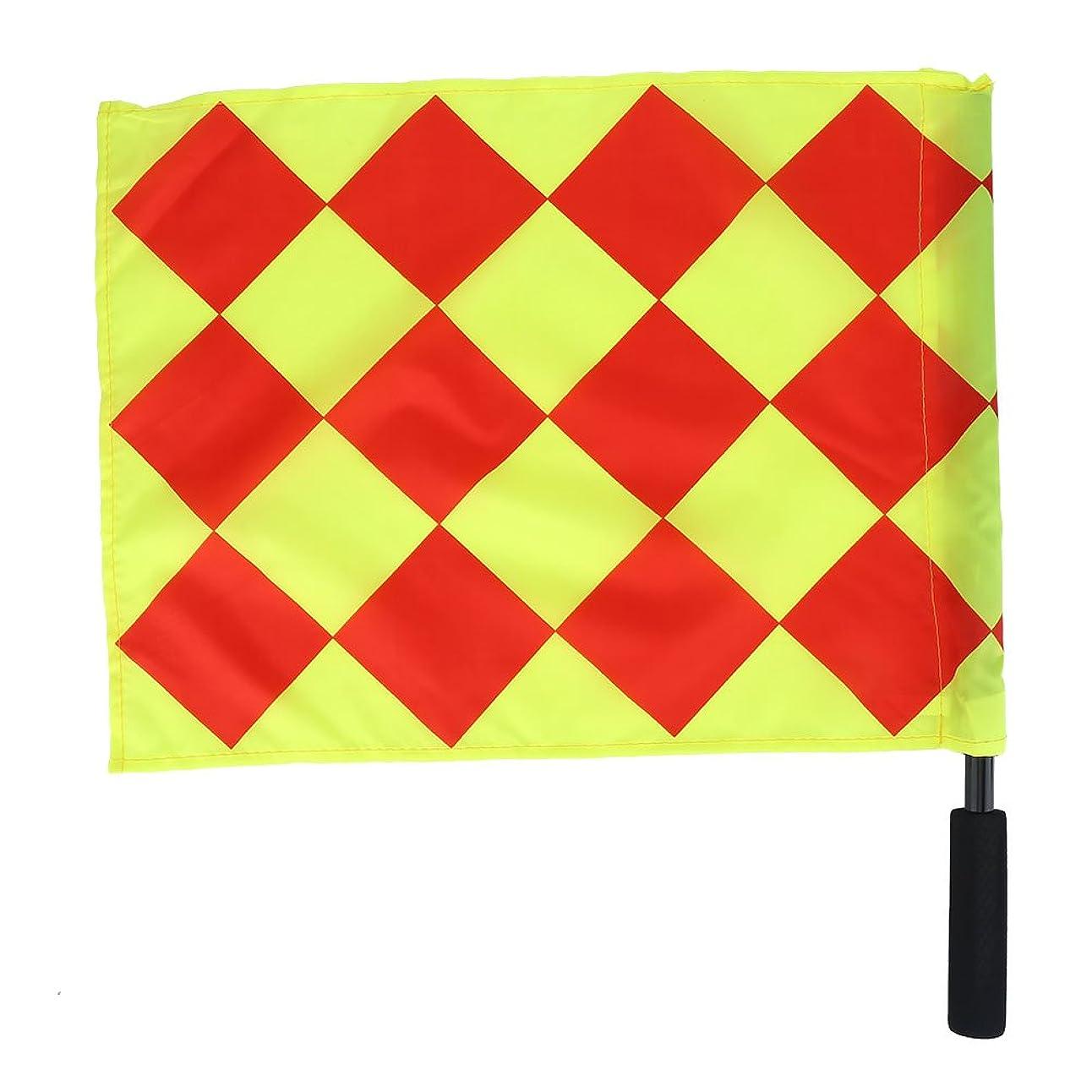 そよ風誤解する運命サッカー 審判の旗 ラインズマンの旗 フットサル 防水 高い視認性 競技 練習 試合 用 2個セット