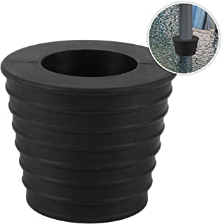 Umbrella Cone Wedge for Patio Table Hole Opening or Parasol Base Stand 1.9 to 2.7 Inch Umbrella Pole Diameter 1 1/2 Inch (Black)