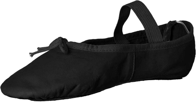 Leo Women's Ballet Russe Dance Shoe, Black, 8.5 D US